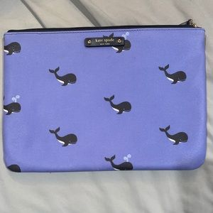 EUC Kate Spade Gia Whale Clutch/makeup bag
